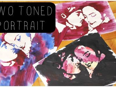 DIY: Two Toned Portrait ♡ {Art for the Non Artist} ♡ Jessica Joaquin