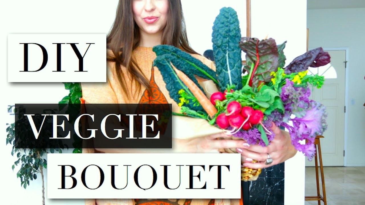 DIY VALENTINE'S DAY VEGGIE BOUQUET