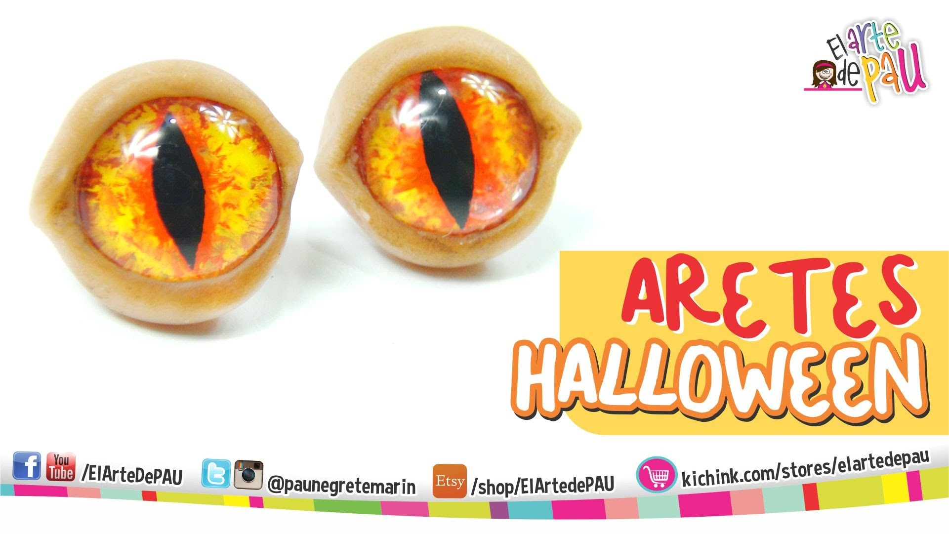 Earrings Halloween . Aretes de Halloween