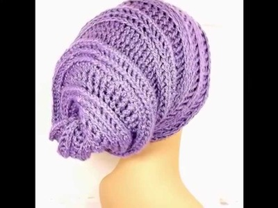 HAPPY SNAIL Unique Women's Crochet Hat, Crochet Slouchy Beanie Hat and Pattern Tutorial Step by Step