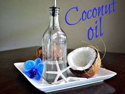Homemade Coconut Oil Recipe - How to Make Virgin Unrefined Oil