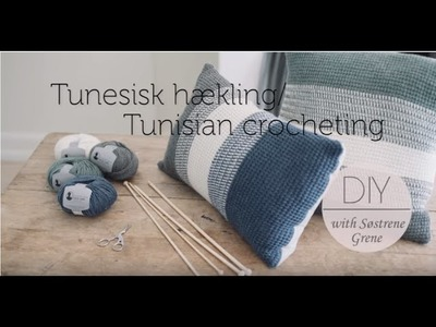 How to change yarn colour (middle of a row) in Tunisian crochet by Pescno & Søstrene Grene