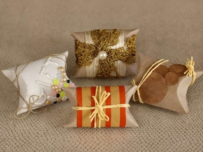 How To Create Paper Roll Pillow Boxes - DIY Crafts Tutorial - Guidecentral
