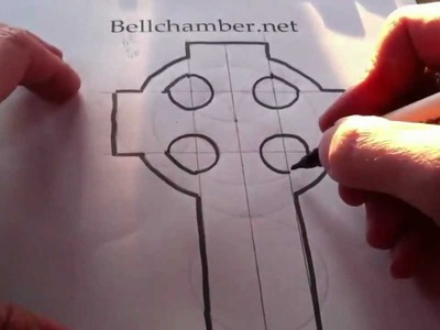 How to Draw a Celtic Cross 1 -  Irish 7th century Style