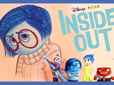 ♡ How to Draw and Color SADNESS from INSIDE OUT ♡