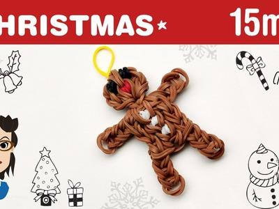 How to make a Christmas Gingerbread Man loom band charm