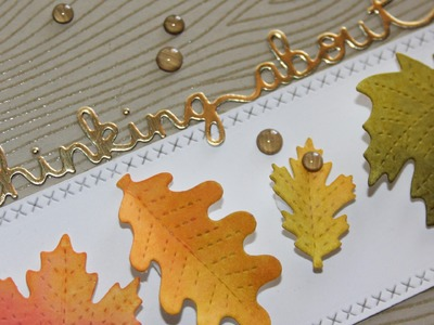How to make a Fall-themed thinking about you card