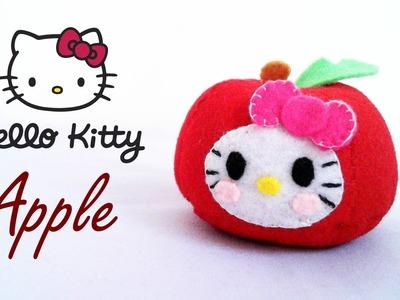 How to Make a Hello Kitty Apple plushie tutorial