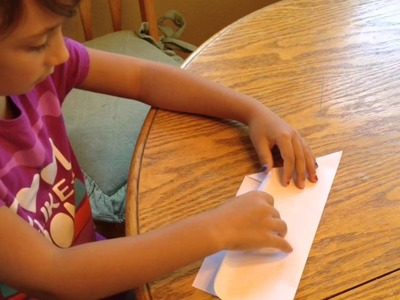 How to Make A Paper Airplane and Decorate It by the Crafty Crafts Girl