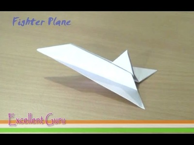 How to make a paper Fighter plane