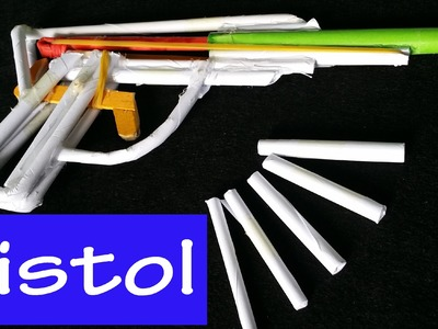 How to make a paper Pistol that shoots with Paper Bullets | Paper Gun