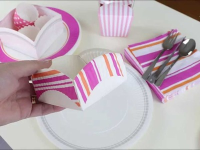 How to make a paper plate favor box | art craft crazy
