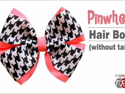 How to Make a Pinwheel Bow Without Tails - TheRibbonRetreat.com