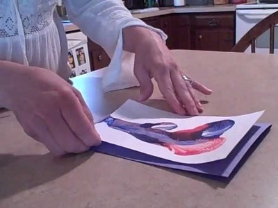 How to Make a Thread Painting Greeting Card