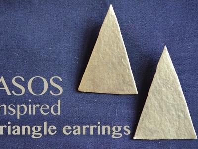 How to make ASOS inspired gold triangle earrings! | Nik Scott