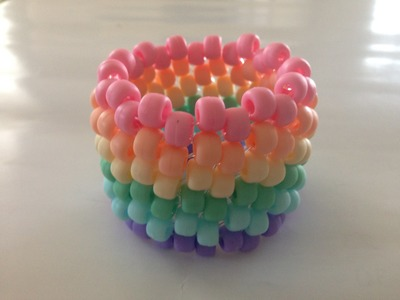 How to Make Jewelry: Horizontal Stripe Kandi Cuff Bracelet