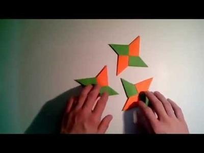 How To Make Origami Shuriken ( Paper Ninja Star ) | Cara Membuat Origami Senjata Ninja [tutorial]