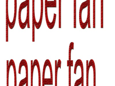 How to make paper fan its very easy