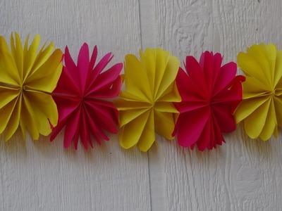 How to make paper flower streamer