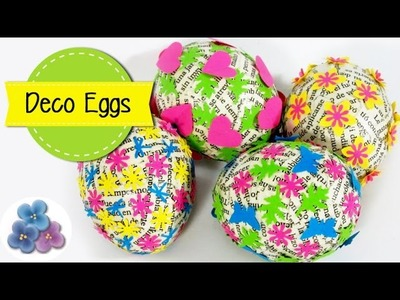 How to make Paper Scrap Easter Eggs - 'Cute and Easy'  Easter Crafts Mathie