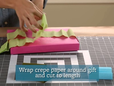 How to Wrap a Present With Crepe Paper Fringe