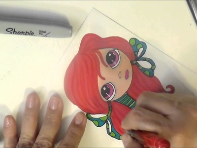 Justafew - Drawing with Sharpies - Redhead Doll