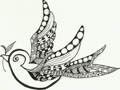 Little Bird Zentangle