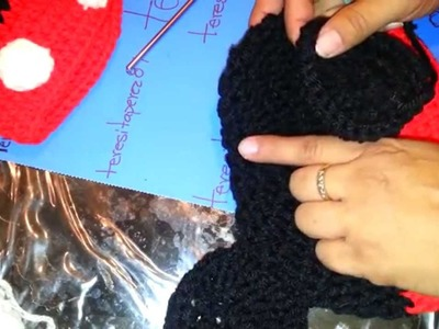 Mickey y Minnie Mouse Crochet Hat
