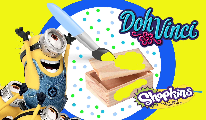 Minion Mini Toy Box DIY DohVinci Play Doh Craft Shopkins Microlite & Sponge Bob Eraseez Blind Bags