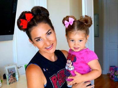 Minnie Mouse Hair-Do Easy Super Cute DIY