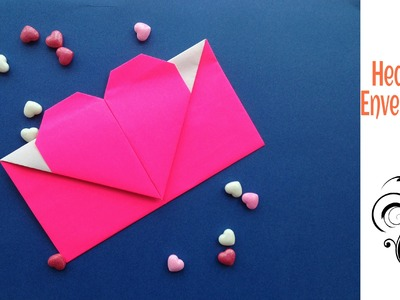 "Origami Paper ""Heart Envelope"" - A4 sheet - Valentine special."