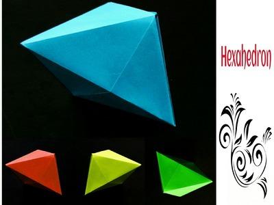 "Origami Paper ""Hexahedron. Deltahedron"" (3D) !!"