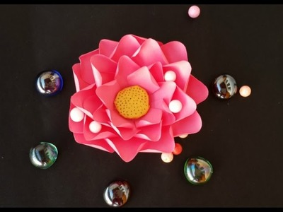 Paper Flower Craft - How to Make Lotus from Papar