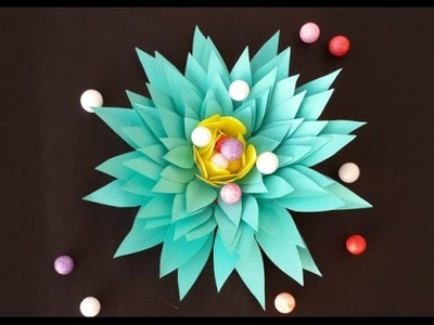 Paper Flowers: How to Make Easy Flower with Paper