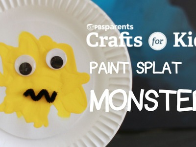 Paper Plate Paint Splat Monster | Crafts for Kids | PBS Parents