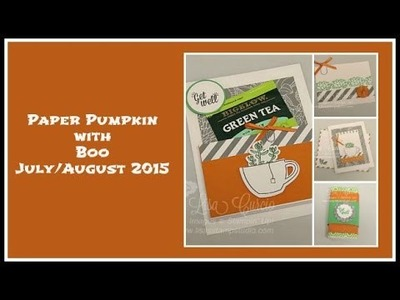 Paper Pumpkin with Boo - July.August 2015