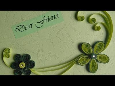 Paper Quilling Greeting Cards Flower Hand Works Handiworks 12