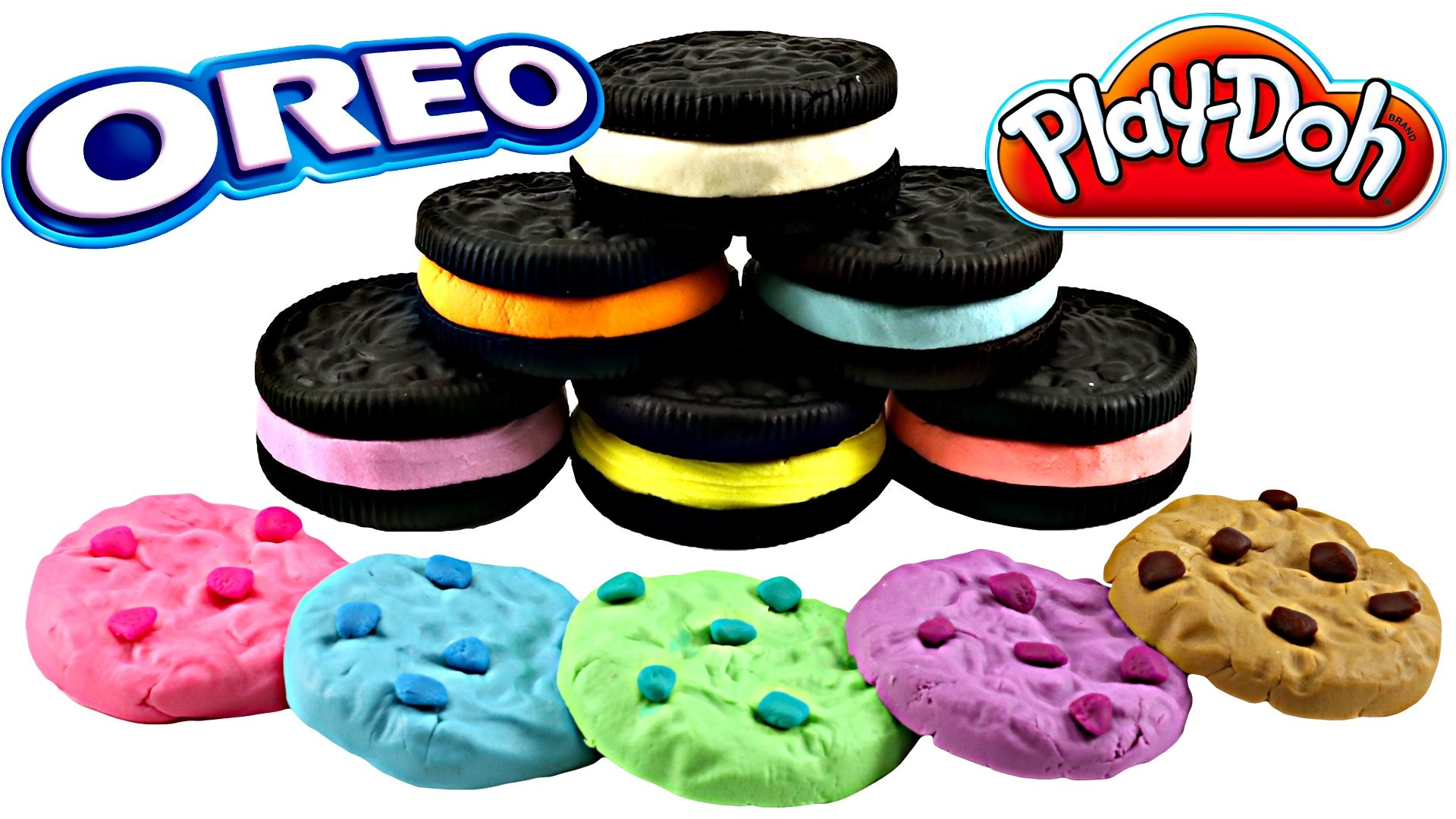 Play doh Cookie Makin Station OREO Chips Ahoy Rainbow Cookies |  Sweet Treats Playdough