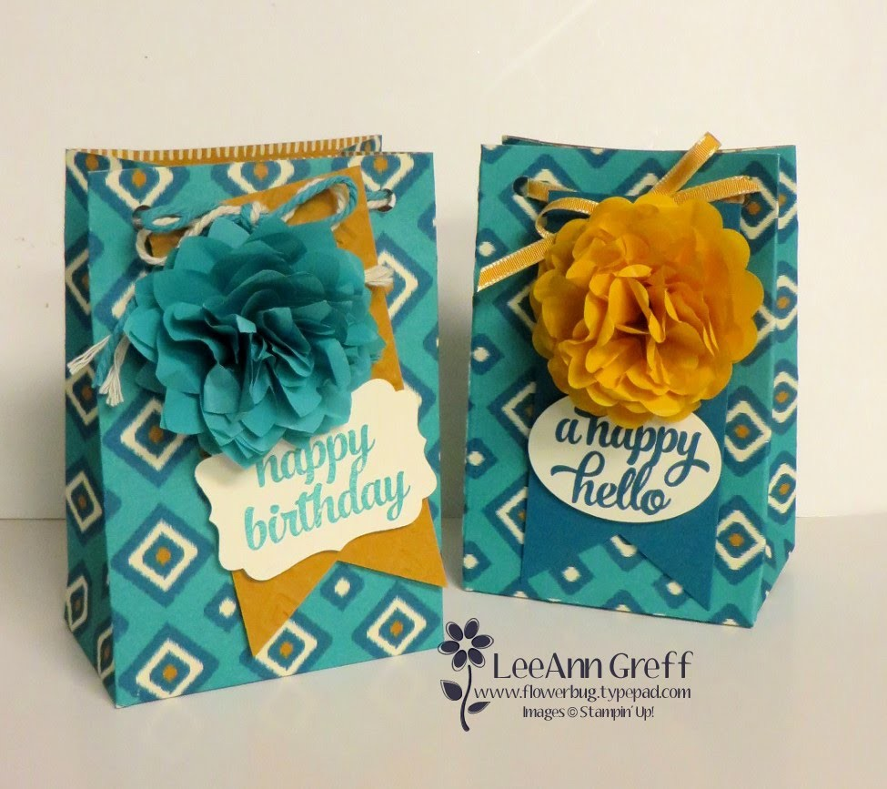 Punch Board Gift Bag with Cotton Paper Flower