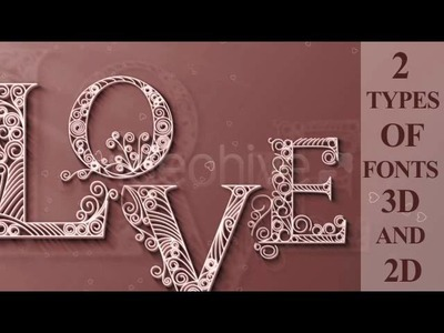 Quilling Cap Letters After Effects Project