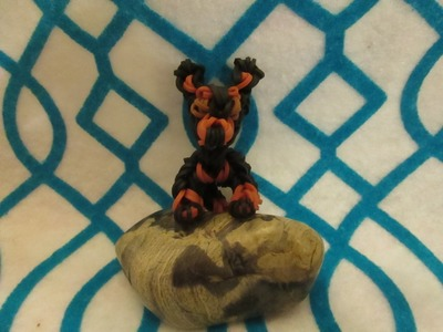 Rainbow Loom Miniature Pinscher Dog or Puppy Charm. 3-D. Gomitas