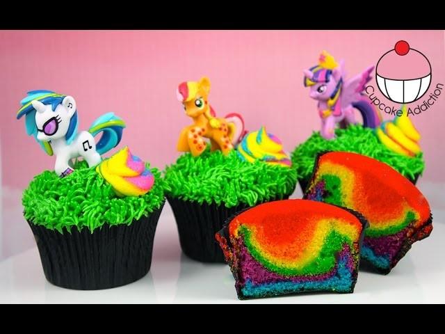 Rainbow Unicorn Poop Cupcakes - My Little Pony Edition! By Cupcake Addiction