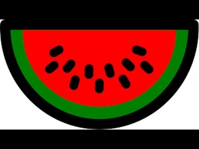 Simple and Easy Watermelon Painting with Paper Plate