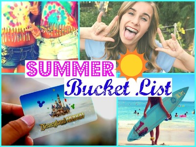 SUMMER BUCKET LIST 2015 + DIY Tumblr Checklist Ideas!
