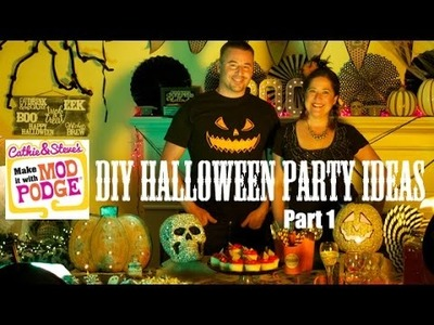 The Ultimate Halloween DIY Party - 7 Ideas with Mod Podge