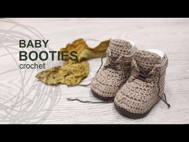 Tutorial Baby Booties Crochet in English