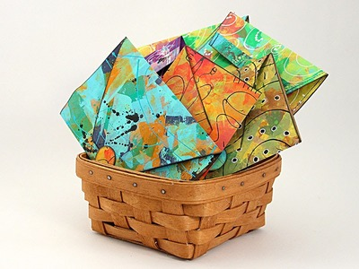 Ustream Rebroadcast: Create Envelopes From Painted Paper Bags - HowToGetCreative.com with Barb Owen