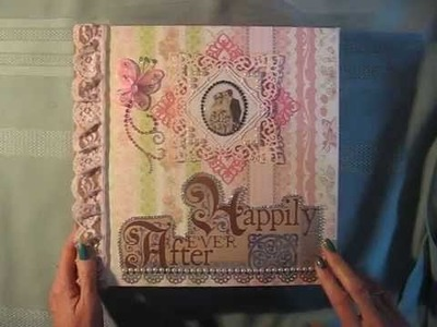 Wedding scrapbook not so mini album with DCWV Once Upon A Time paper stack