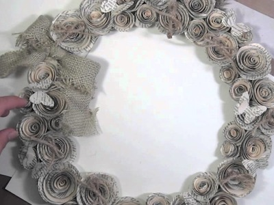 25 days of videos. Day 25!!! Rolled Rose burlap wreath!!