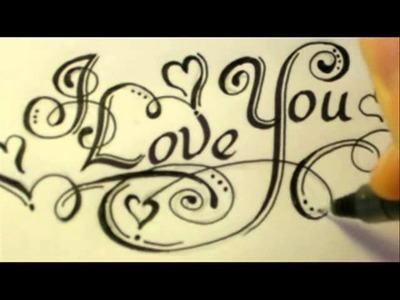 3 Ways How To Draw I Love You.